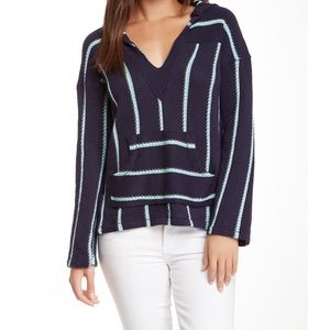 Vintage Havana Stripe Hooded Pullover